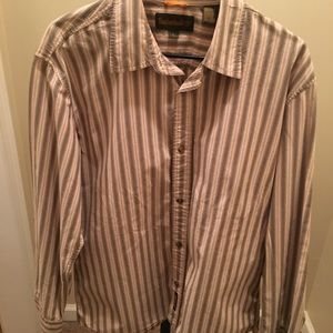 Men's Timberlands long sleeve striped shirt